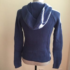 Sweaters - SUZY SHIER Cotton Hooded Zip up Sweater